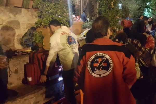 Hellenic rescue team supports walking pilgrims with first aid
