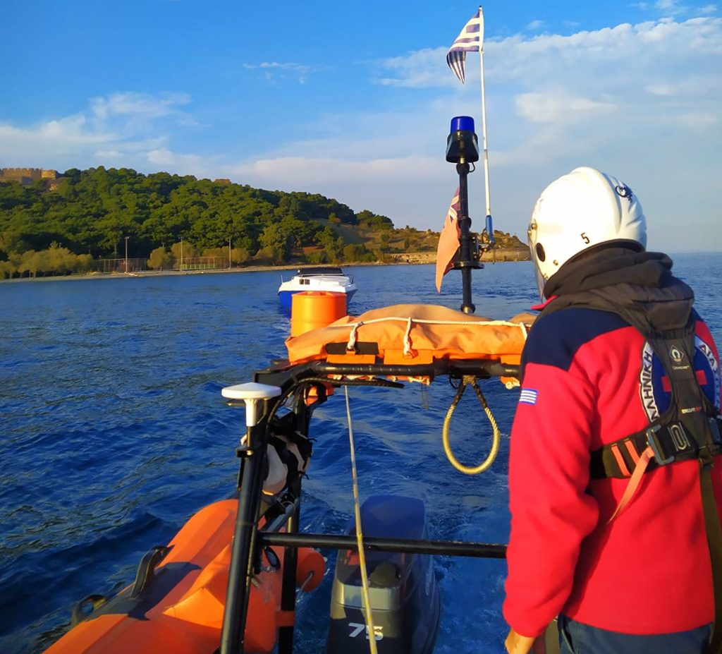 Hellenic rescue team respond to boat transfer