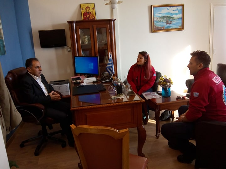 meeting with the new mayor of Mytilene