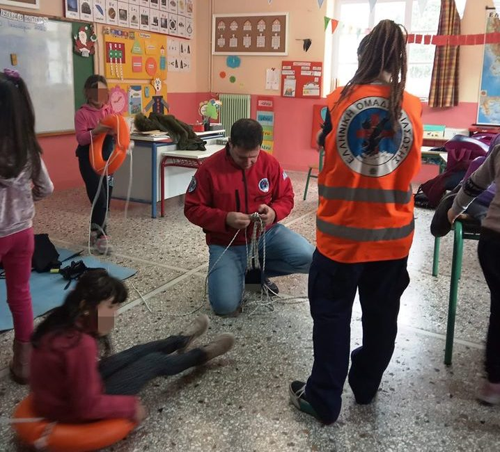 First aid training for elementary school students at Kato Tritos