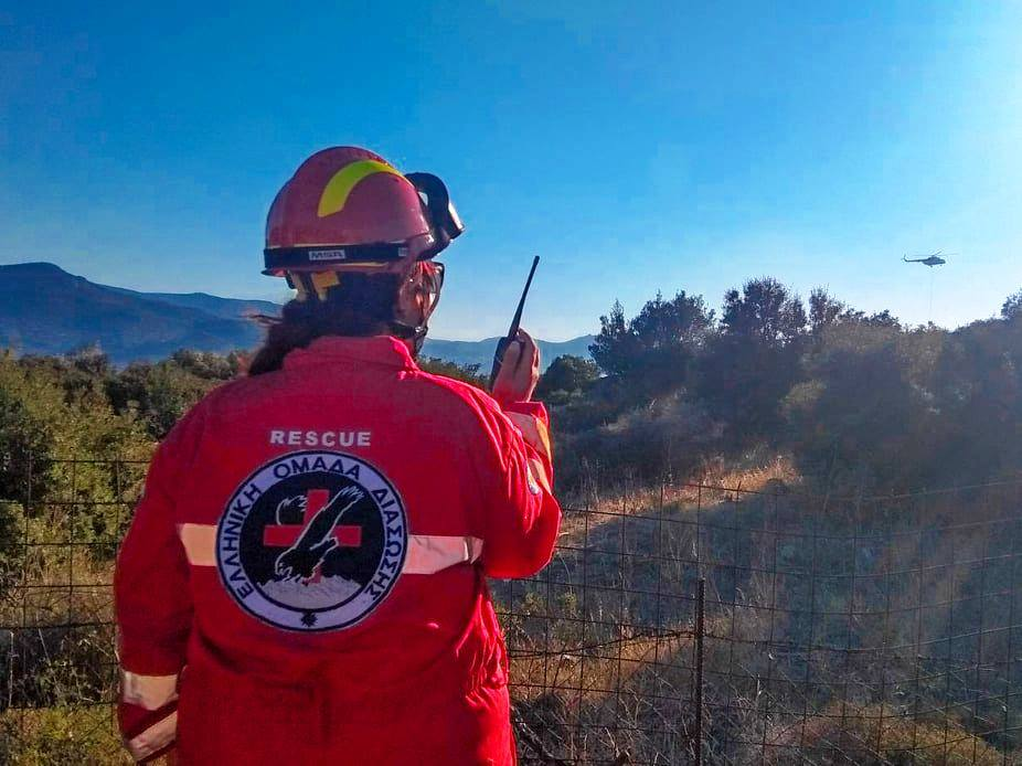 HRT Lesvos attended to fire at karatepe outza